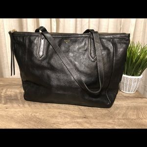 Fossil Sydney Tote in Black Leather